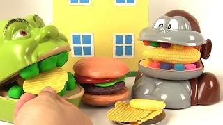 Shrek et le singe mangent des frites hamburger fast food thumbnail