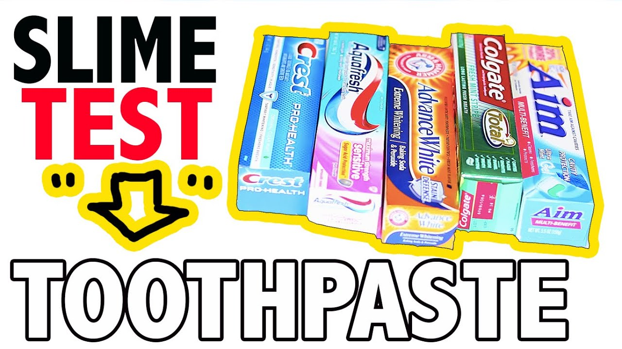 how to make slime with crest toothpaste