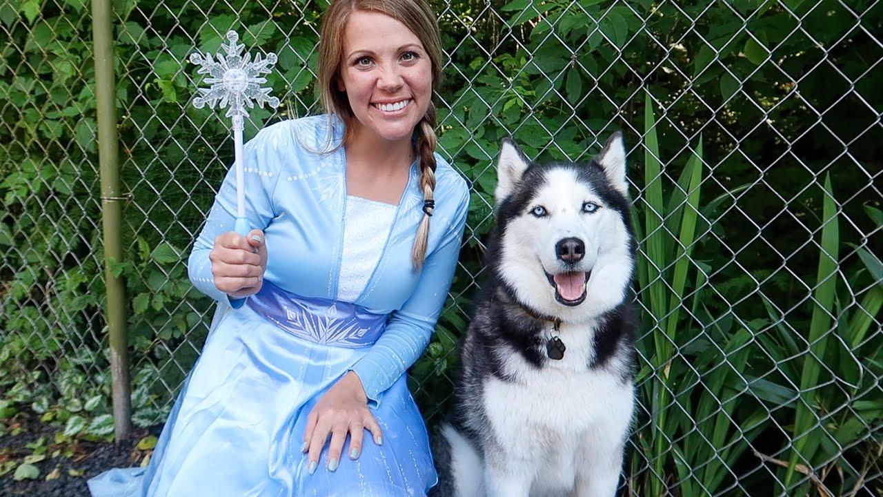 Frozen Elsa & Sky's Morning Routine!