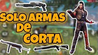 SOLO CON ARMAS DE CORTA - Retos en dúo - Free Fire - Josephson