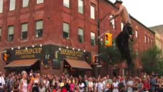 The Space Cowboy's amazing and death defying street show!