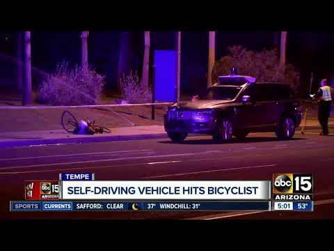 Self-driving Uber vehicle involved in fatal Tempe crash