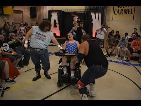 Handicapped Fan Runs Over Pro Wrestler With Her Wheelchair - Absolute Intense Wrestling