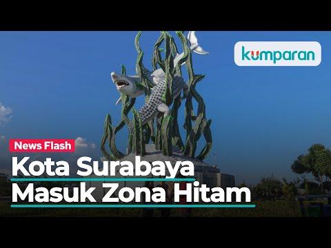 Kota Surabaya Masuk Zona Hitam di Peta Sebaran COVID-19 Jawa Timur