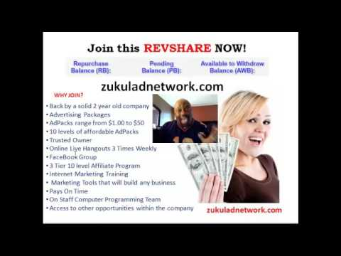 Solid Revshare Zukul Ad Network Revshare is a must see