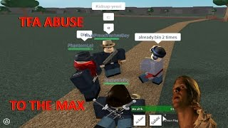 TFA STRIKES WITH CRINGE AND ADMIN-ABUSE - [Roblox] Fort Pulasky