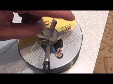 ночник ребенку в комнату из CD дисков