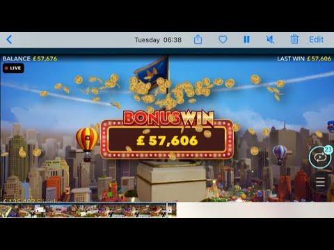 Monopoly Live World Record!!  9600X!!!! Massive 57K Win !!!