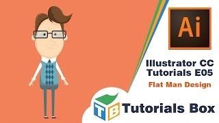 Illustrator CC Tutorials | E05 | Flat Man Design