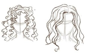 How To Draw Curly Hair