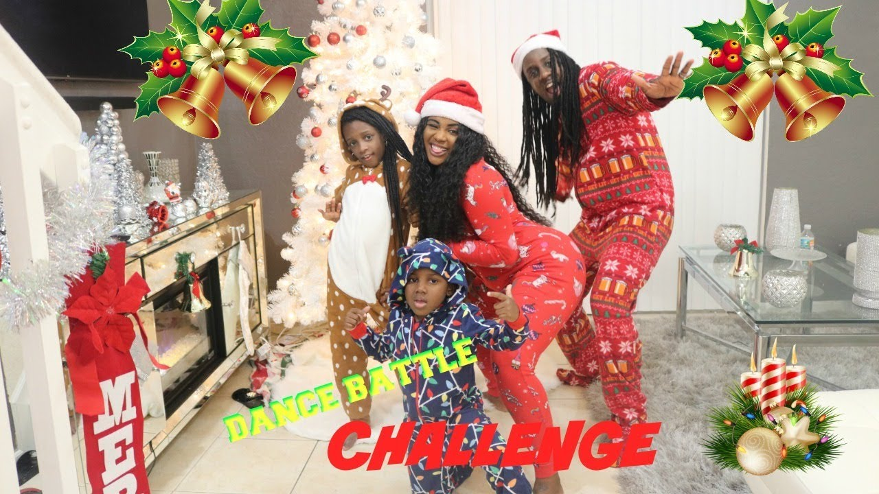 ULTIMATE ONESIE DANCE BATTLE WITH THE KIDS (CHRISTMAS ...