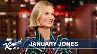 January Jones & Jimmy Kimmel Have Seen UFOs