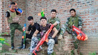 LTT Game Nerf War : Captain Winter Warriors SEAL X Nerf Guns Fight Bandits Hunter Wanted