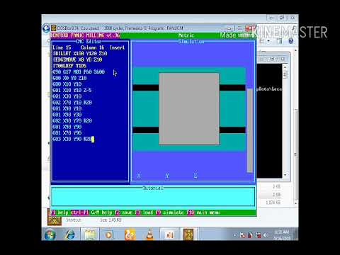 How to program and simulate CNC Fanuc milling program in fanuc milling  software