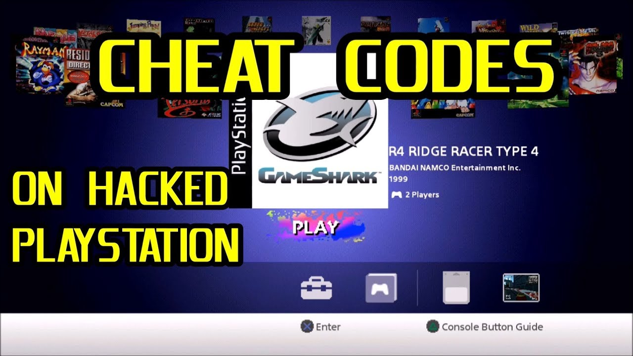 How to use GameShark Cheat Codes on a Hacked PlayStation Classic - YouTube
