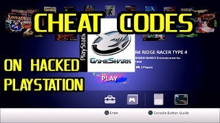 How to use GameShark Cheat Codes on a Hacked PlayStation Classic