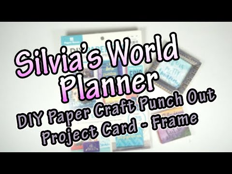 DIY | Paper Craft Punch Out Project Card - Frame