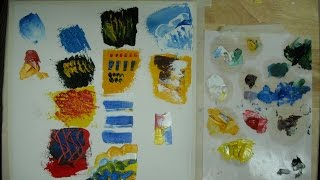 Tutorial video: How to use a Palette Knife in oil painting with Svetlana Kanyo