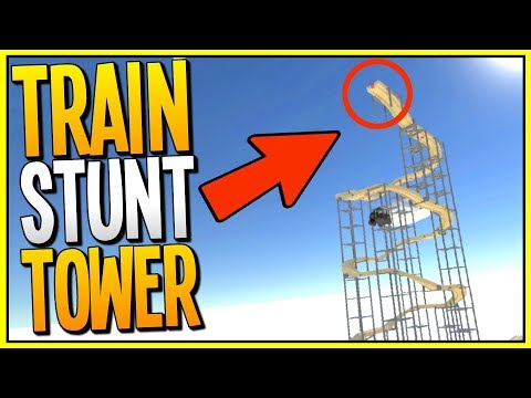 TRAIN FLIPPING FROM THE TALLEST TOWER - Train Building VR Game - TrainerVR Gameplay - VR HTC Vive