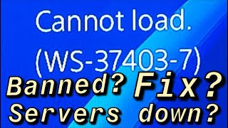 PS4 (WS-37403-7) Server Down? PSN Hacked?