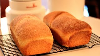 Unsifted Freshly Milled Flour: Honey Whole Wheat Sandwich Bread Loaf