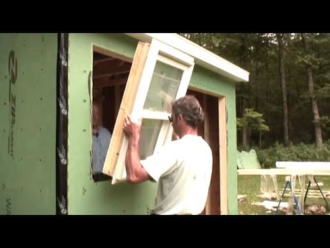Installing A Windows Amp Door Shed Youtube