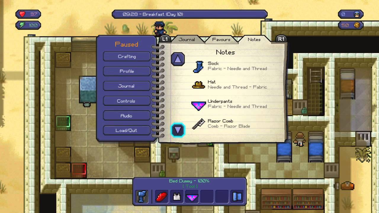 The Escapists Master Craftsman Trophy Guide All Crafting