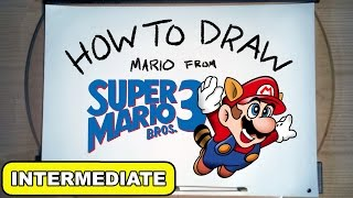 How To Draw: Mario from Super Mario Bros. 3