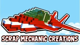 Scrap Mechanic CREATIONS! - THE BEST STUNT PLANE!! [#16] W/AshDubh | Gameplay |