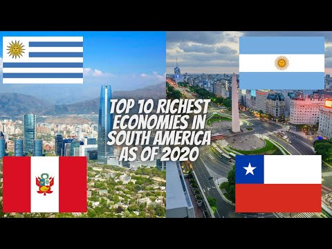 Top 10 Richest Economies in South America as of 2020 || South America || Fillapedia