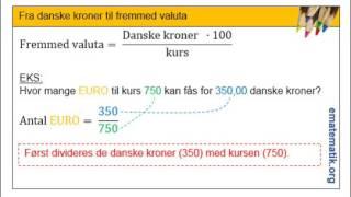 Fra danske kroner til en fremmed valuta