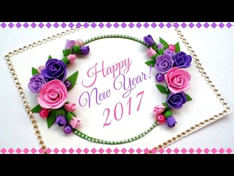 Happy New Year Greeting Card Handmade Greeting Cards For Special
