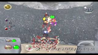Pikmin 2 Hacking - Fighting Ranging Bloyster out of caves!