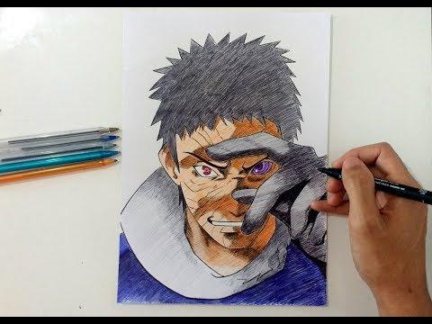 Speed Drawing Obito Uchiha (Naruto Shippuden)