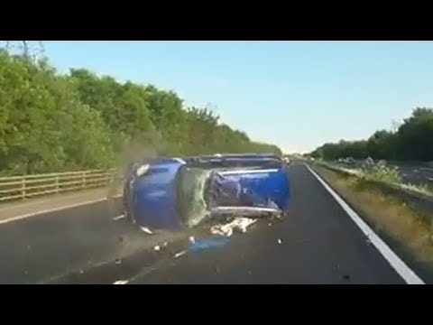 Car Violently Rolls Over After 100MPH Road Rage Incident