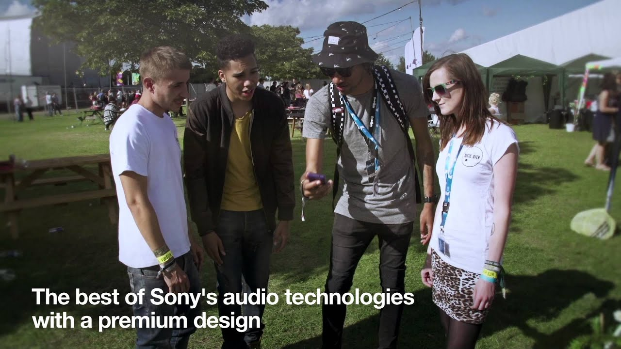 Poet And Craig Mitch Test The Loud Speaker On Xperia E1 From Sony At Sundown Festival