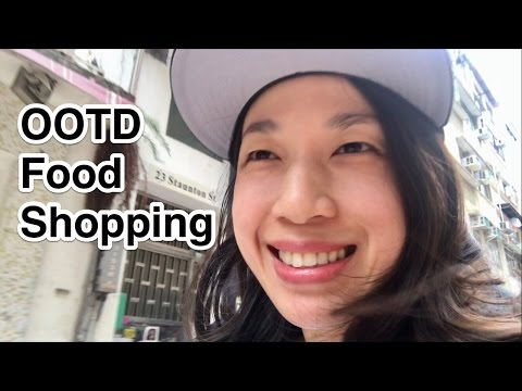 Hong Kong Vlog: OOTD Food Shopping