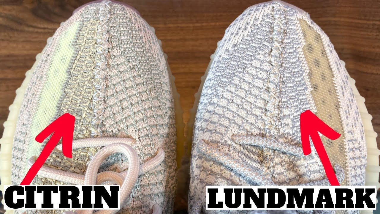adidas YEEZY BOOST 350 V2 CITRIN VS LUNDMARK COMPARISON REVIEW!