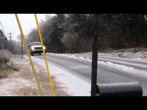 Snow Plow Stuck on Tulip Grove in Hermitage TN @ Airmail house