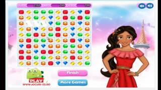 Elena of Avalor Bejeweled Game Cartoon Video Game For Kids