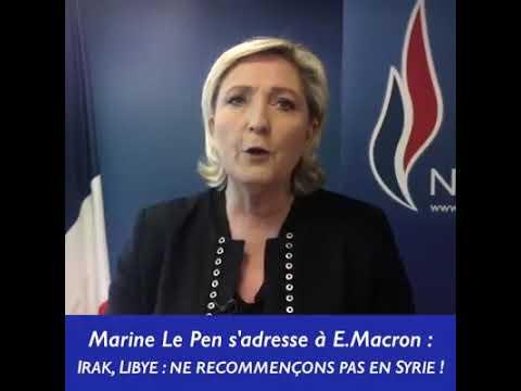 Déstabilisation de la Syrie: Marine le Pen met à nu le programme makiavelique de Trump