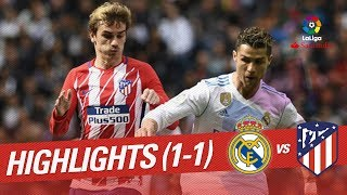 Resumen de Real Madrid vs Atlético de Madrid (1-1)