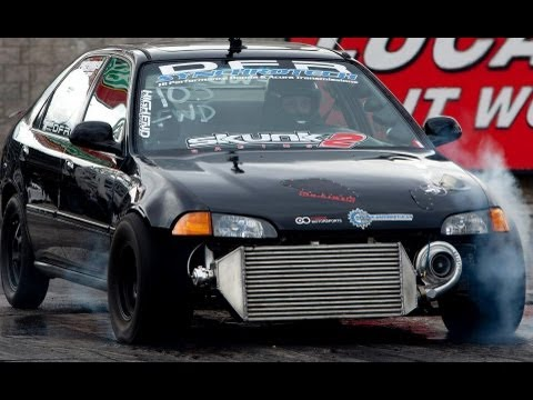 Driver B's civic turbo test pass ( Perris CA Shootout 2013 )