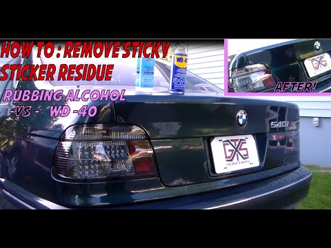 how to remove sticker glue from your car paint doovi. Black Bedroom Furniture Sets. Home Design Ideas