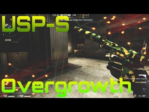 Модель USP «Камуфляж — Overgrowth» для CS 1.6