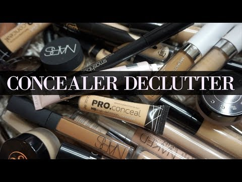 DONATING HALF OF MY CONCEALER COLLECTION!! DECLUTTER WITH YWP