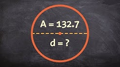 learn how to find the diameter of a circle given the area