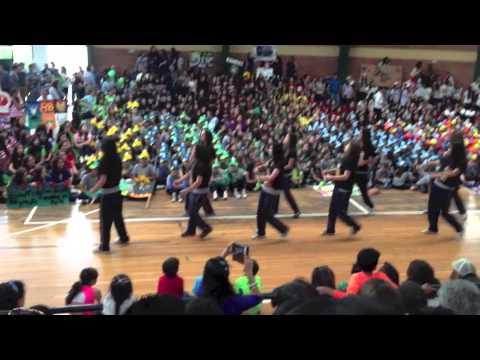 Inauguración de Deportes 2013-2014, Colegio Los Pinos, Quito, Ecuador, 1ro. Div. A