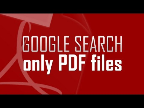 Find Only PDF Files Using Google Search