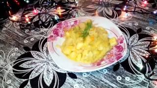 Тушеная капуста с картошкой (очень простой и вкусный рецепт)